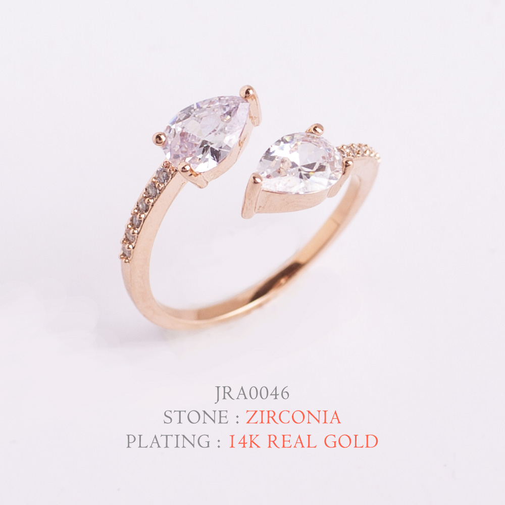 [지르콘반지] R-0015   14K Double GP_Shiny Ring