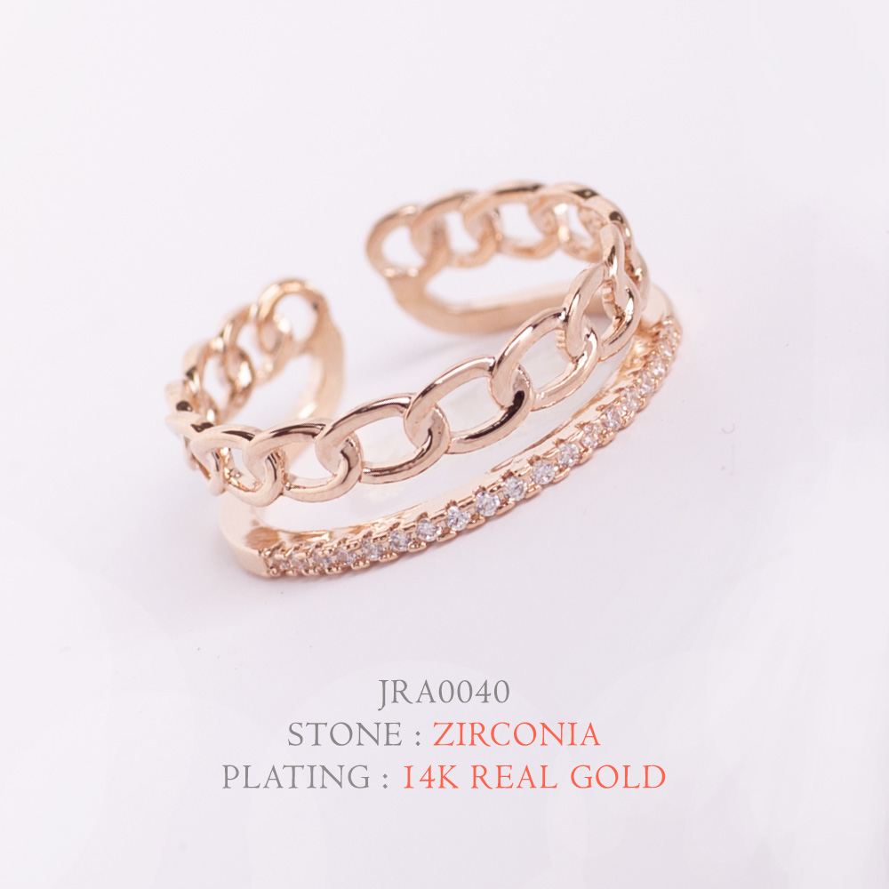 [지르콘반지] R-0009  14K Double GP_Shiny Ring