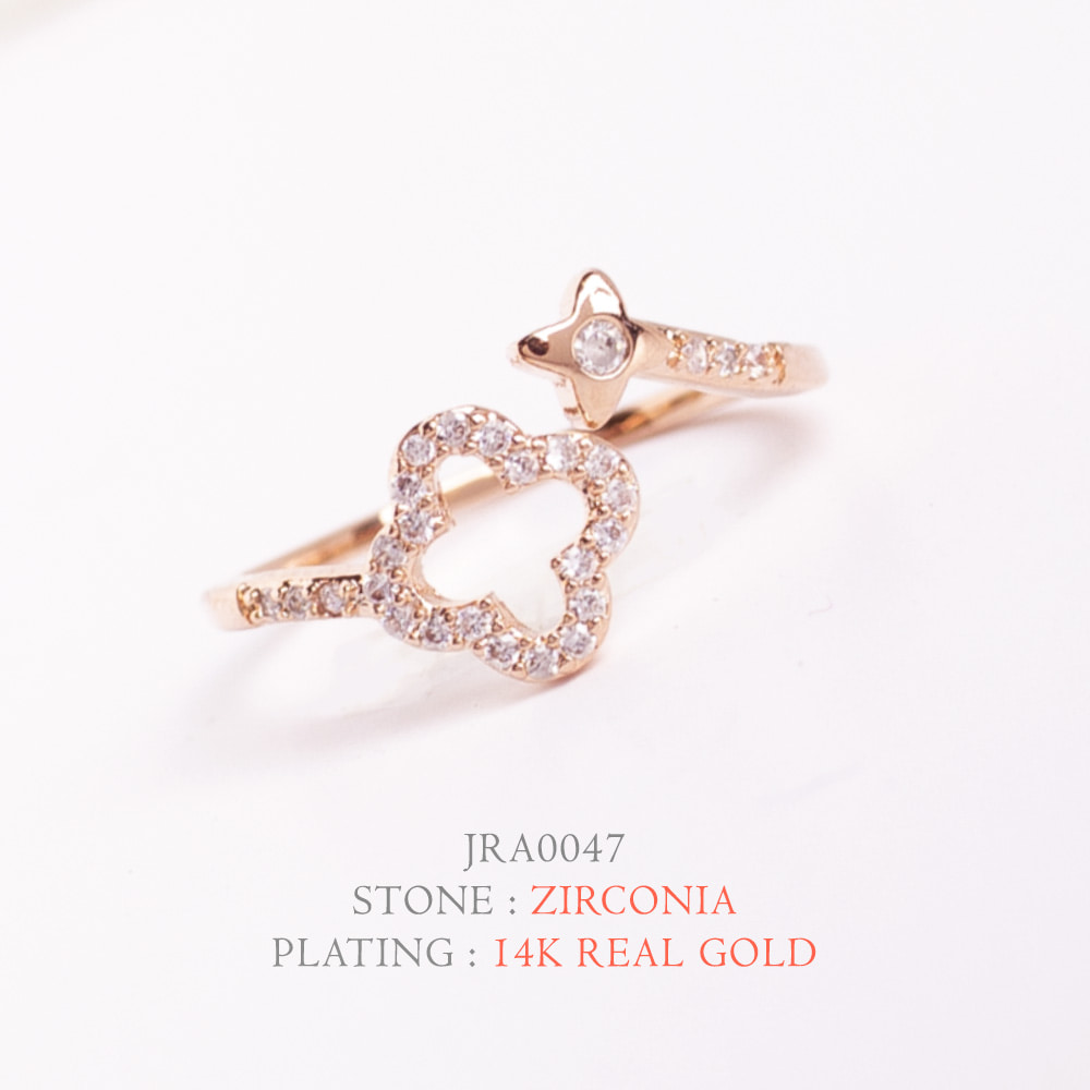 [지르콘반지] R-0016  14K Double GP_Shiny Ring